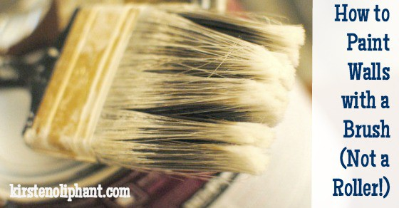 How to Paint Walls with a Brush (Instead of a Roller)