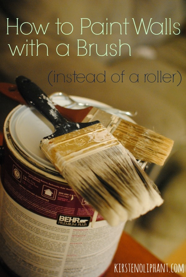 how to paint walls using a brush instead of a roller tips and. Black Bedroom Furniture Sets. Home Design Ideas