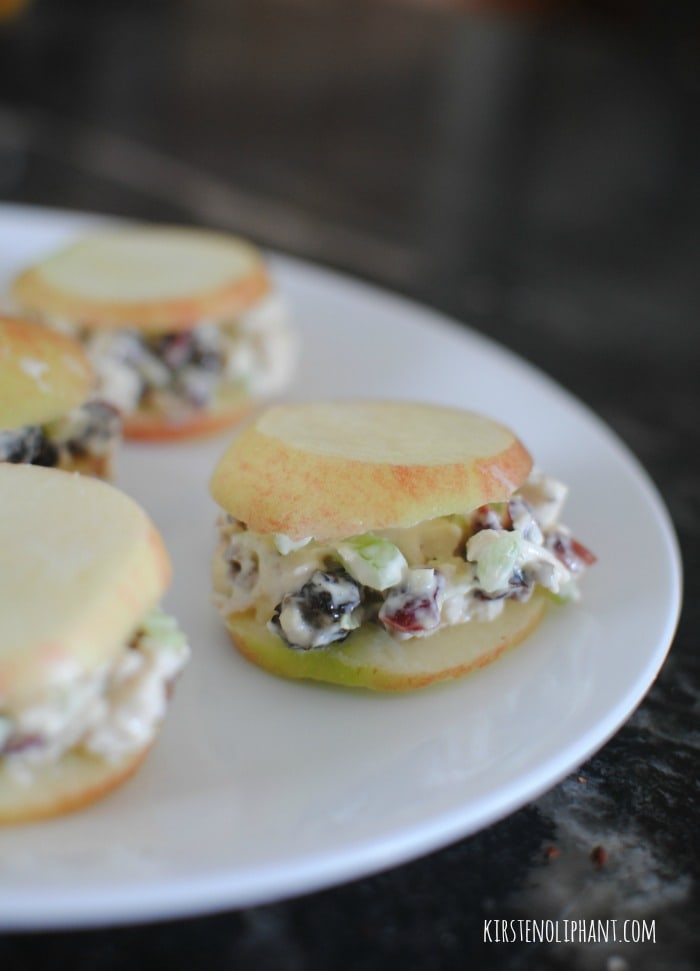 Try these delicious and stupid simple chicken salad apple sandwiches ...