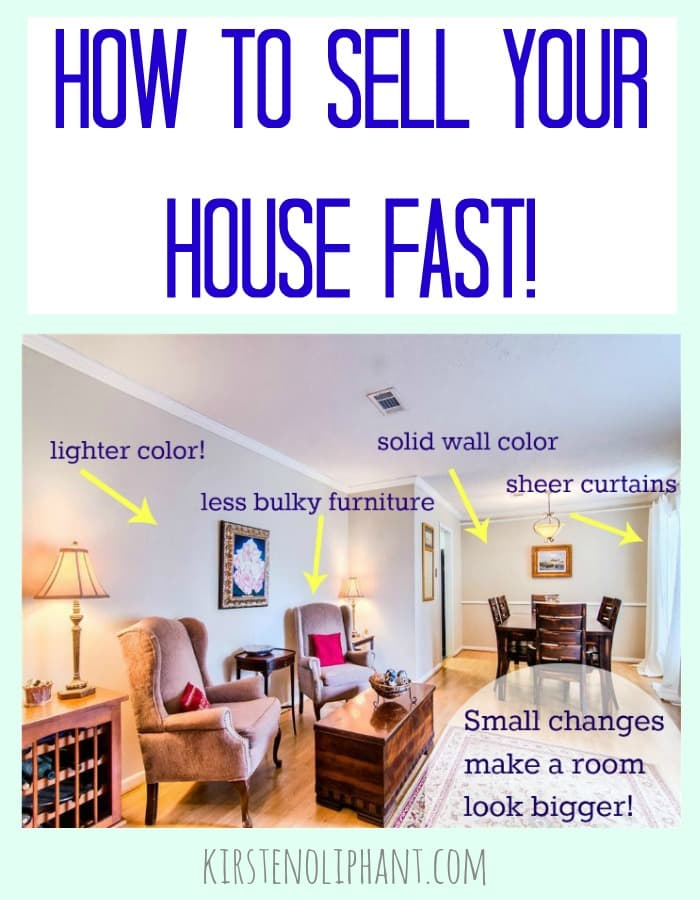 Tips to sell your house fast kirsten oliphant for Stage your home to sell ideas
