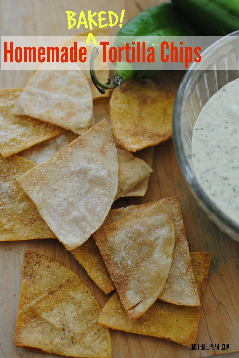 ... fried, these simple homemade tortilla chips are easy and delicious