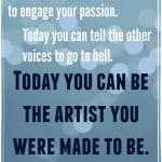 Every artist and writer will face frustrations. Consider it creative tension and learn to embrace it to grow as an artist.